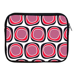 Wheel Stones Pink Pattern Abstract Background Apple iPad 2/3/4 Zipper Cases