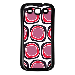 Wheel Stones Pink Pattern Abstract Background Samsung Galaxy S3 Back Case (Black)