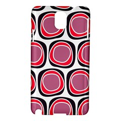 Wheel Stones Pink Pattern Abstract Background Samsung Galaxy Note 3 N9005 Hardshell Case