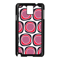 Wheel Stones Pink Pattern Abstract Background Samsung Galaxy Note 3 N9005 Case (Black)