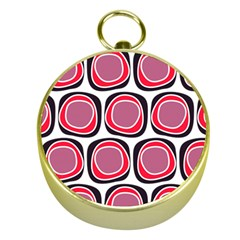 Wheel Stones Pink Pattern Abstract Background Gold Compasses