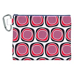 Wheel Stones Pink Pattern Abstract Background Canvas Cosmetic Bag (XXL)