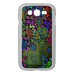 Grunge Rose Background Pattern Samsung Galaxy Grand DUOS I9082 Case (White)