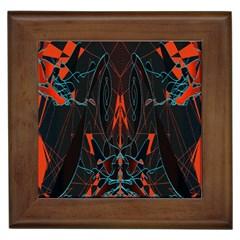 Doodle Art Pattern Background Framed Tiles