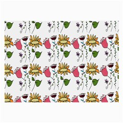 Handmade Pattern With Crazy Flowers Large Glasses Cloth