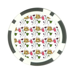 Handmade Pattern With Crazy Flowers Poker Chip Card Guard