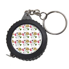 Handmade Pattern With Crazy Flowers Measuring Tapes