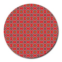 Floral Seamless Pattern Vector Round Mousepads