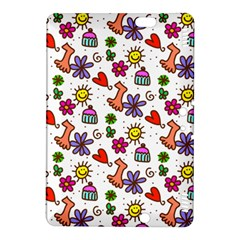 Cute Doodle Wallpaper Pattern Kindle Fire HDX 8.9  Hardshell Case
