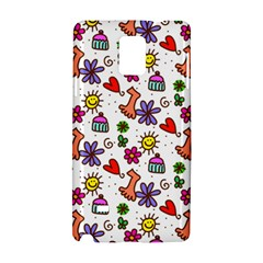 Cute Doodle Wallpaper Pattern Samsung Galaxy Note 4 Hardshell Case