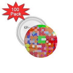 Abstract Polka Dot Pattern 1.75  Buttons (100 pack)