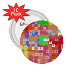 Abstract Polka Dot Pattern 2.25  Buttons (10 pack)