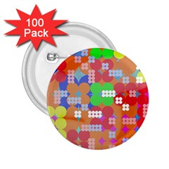 Abstract Polka Dot Pattern 2.25  Buttons (100 pack)