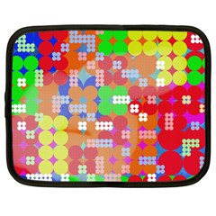 Abstract Polka Dot Pattern Netbook Case (Large)