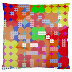 Abstract Polka Dot Pattern Large Cushion Case (One Side)