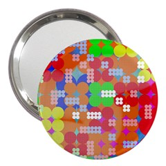 Abstract Polka Dot Pattern 3  Handbag Mirrors