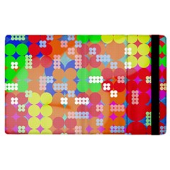 Abstract Polka Dot Pattern Apple iPad 3/4 Flip Case