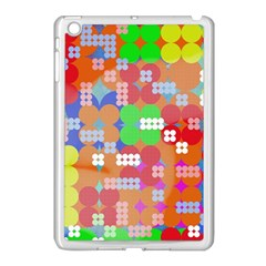Abstract Polka Dot Pattern Apple iPad Mini Case (White)