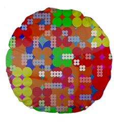 Abstract Polka Dot Pattern Large 18  Premium Flano Round Cushions