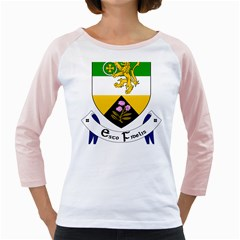 County Offaly Coat of Arms  Girly Raglans