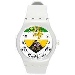County Offaly Coat of Arms  Round Plastic Sport Watch (M)