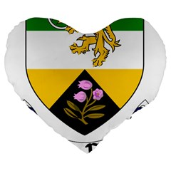 County Offaly Coat of Arms  Large 19  Premium Heart Shape Cushions