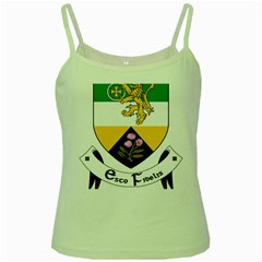 County Offaly Coat of Arms  Green Spaghetti Tank
