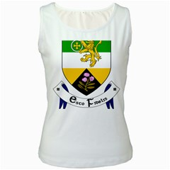 County Offaly Coat of Arms  Women s White Tank Top