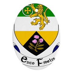 County Offaly Coat of Arms  Oval Ornament (Two Sides)