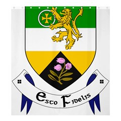 County Offaly Coat of Arms  Shower Curtain 66  x 72  (Large)