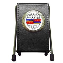 County Tipperary Coat of Arms  Pen Holder Desk Clocks