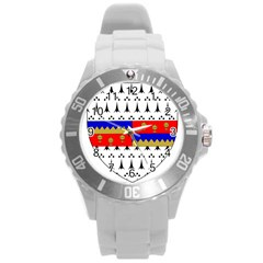 County Tipperary Coat Of Arms  Round Plastic Sport Watch (l)