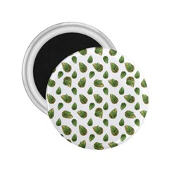 Leaves Motif Nature Pattern 2.25  Magnets