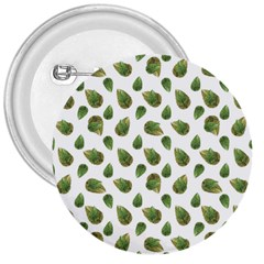 Leaves Motif Nature Pattern 3  Buttons