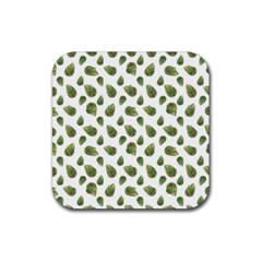 Leaves Motif Nature Pattern Rubber Coaster (Square)