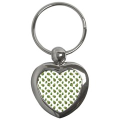 Leaves Motif Nature Pattern Key Chains (Heart)