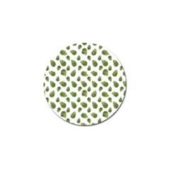 Leaves Motif Nature Pattern Golf Ball Marker