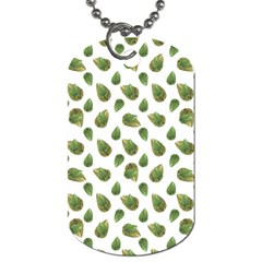 Leaves Motif Nature Pattern Dog Tag (Two Sides)