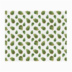 Leaves Motif Nature Pattern Small Glasses Cloth