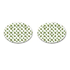 Leaves Motif Nature Pattern Cufflinks (Oval)