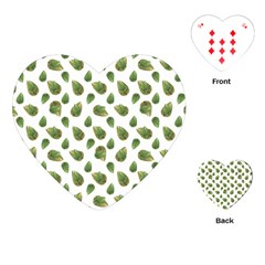 Leaves Motif Nature Pattern Playing Cards (Heart)