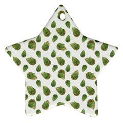 Leaves Motif Nature Pattern Star Ornament (Two Sides)
