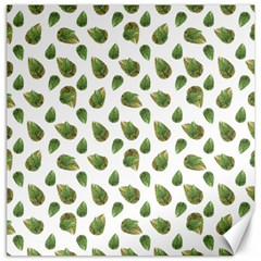 Leaves Motif Nature Pattern Canvas 20  x 20
