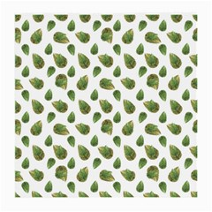 Leaves Motif Nature Pattern Medium Glasses Cloth