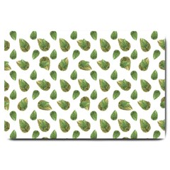Leaves Motif Nature Pattern Large Doormat