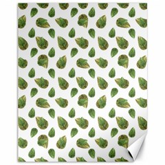 Leaves Motif Nature Pattern Canvas 11  x 14