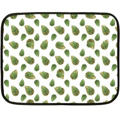Leaves Motif Nature Pattern Double Sided Fleece Blanket (Mini)