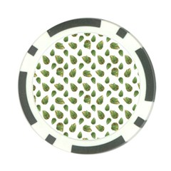 Leaves Motif Nature Pattern Poker Chip Card Guard (10 pack)