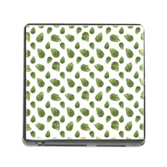 Leaves Motif Nature Pattern Memory Card Reader (Square)