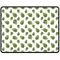 Leaves Motif Nature Pattern Fleece Blanket (Medium)